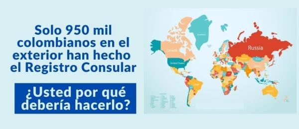 De los 5 millones de colombianos que se estima hay en el exterior, solo 950 mil están registrados en los consulados de Colombia